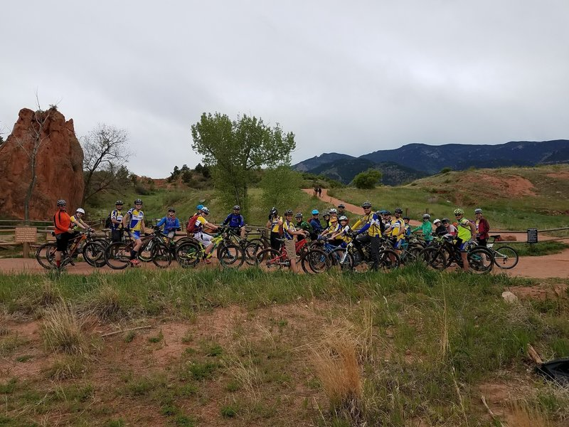 Front Rangers Youth Cycling at Red Rocks.