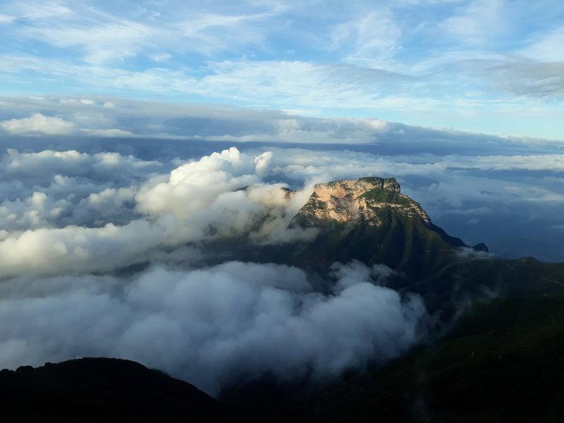 Trail passes the face of this mountain; Cerro de la Media Luna