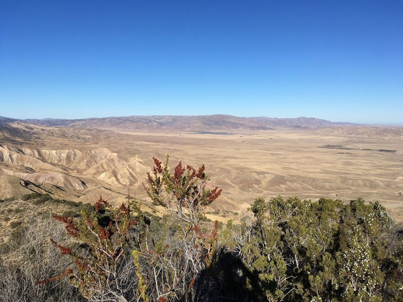 On the way up, a view of Panoche Valley and the new immense solar farm.