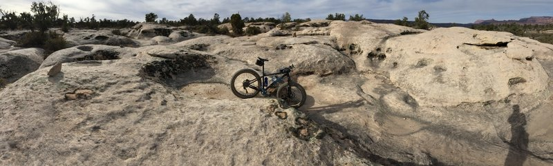 A Slick Rock playground...like riding on the moon!