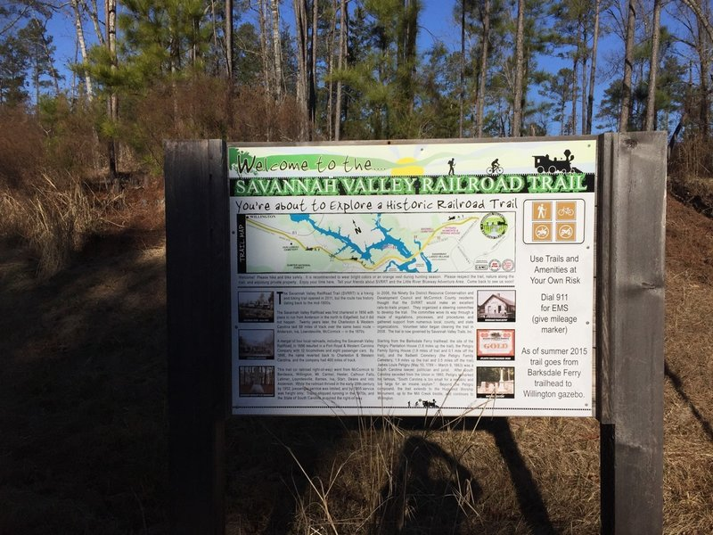 Willington has a trail map and ample parking