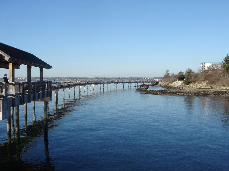 Along the pier in Bellingham.