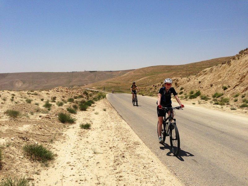 Enjoying the road along the Jordan Bike Trail.