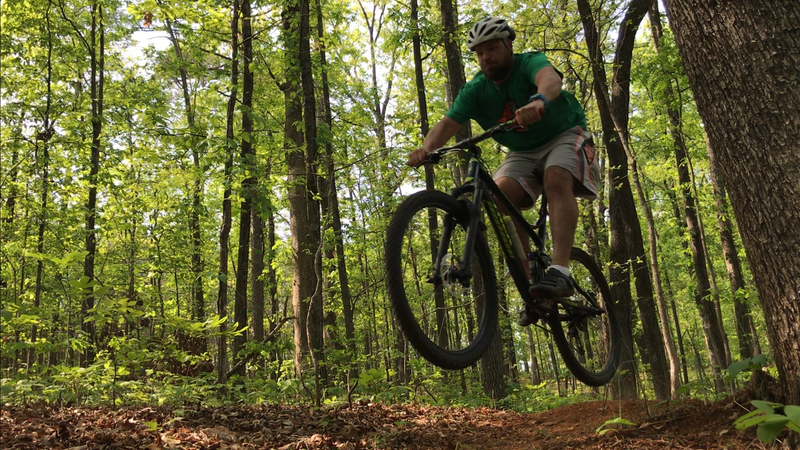 Excellent opportunities for speed and air on the Backwoods Loop.
