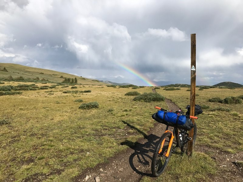 Rainbow at the top of Georgia Pass.
