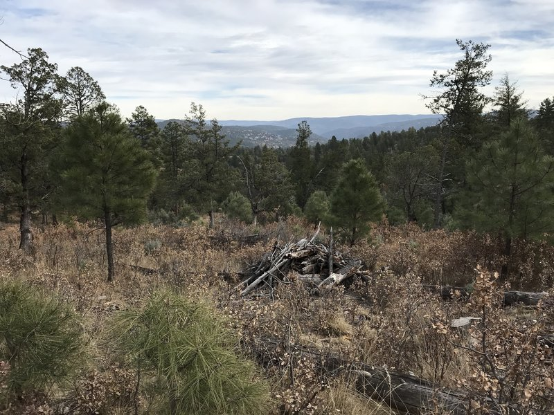 View of Ruidoso from Lower Raven.