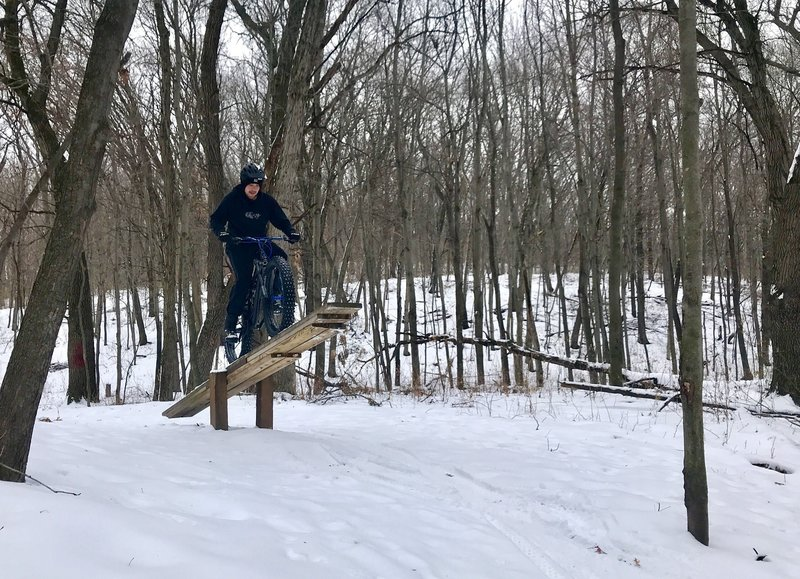 Riding thrice teeter in the winter!