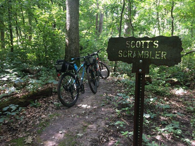 Start of Scott's Scrambler