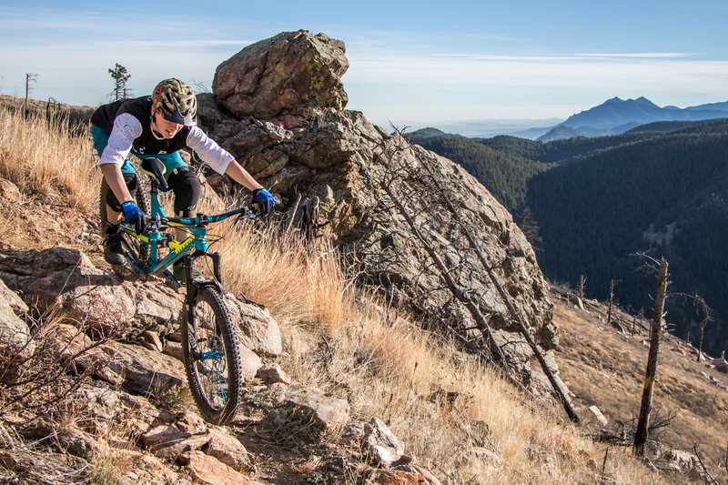 Getting rowdy high above Boulder.