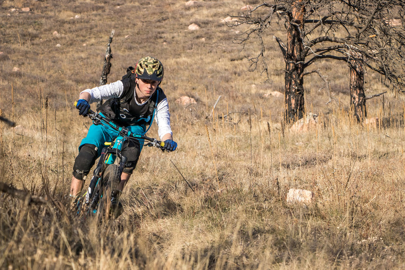 Ripping singletrack at Lefthand OHV.