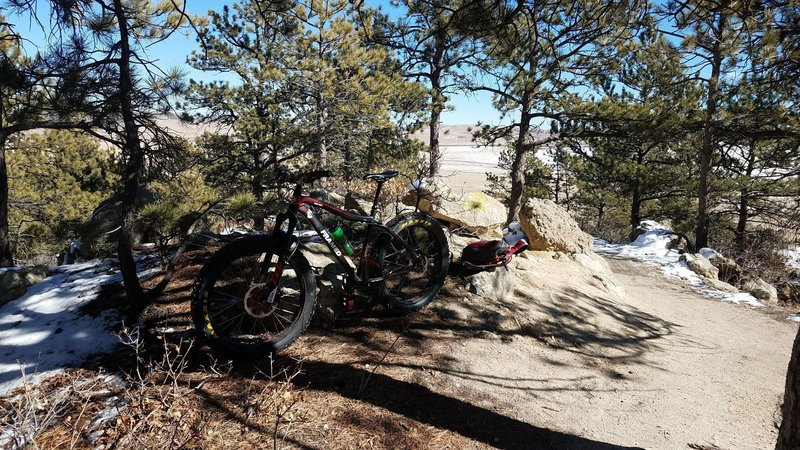 A good climb and trail for novice riders.