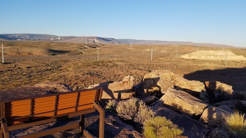Will Gilbert Point offers a gorgeous view, a comfortable bench, and a great spot for a snack or some lunch.
