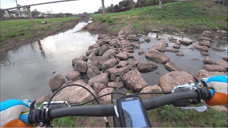 Rocky creek crossing on Coyote Run - Oyster Creek Trails