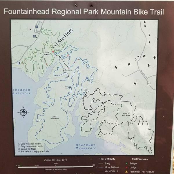 Trail map.