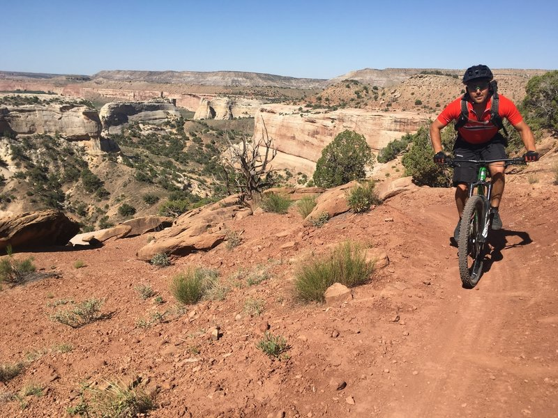 Riding the Western Rim Trail in Rabbit Valley, Colorado