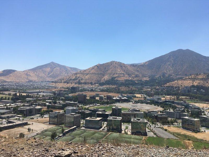 View of Huechuraba from La Piramide.