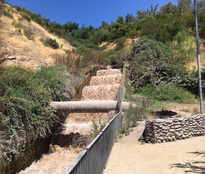 El Salto Water Drop Channel Cerro San Cristobal.