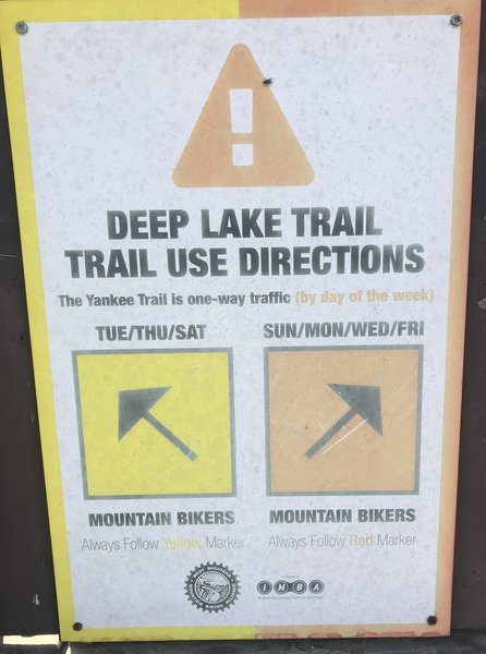 The trail is directional by the day.
