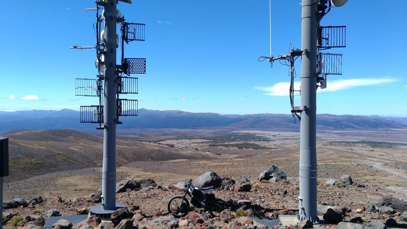 A repeater station stands out amongst the natural landscape.