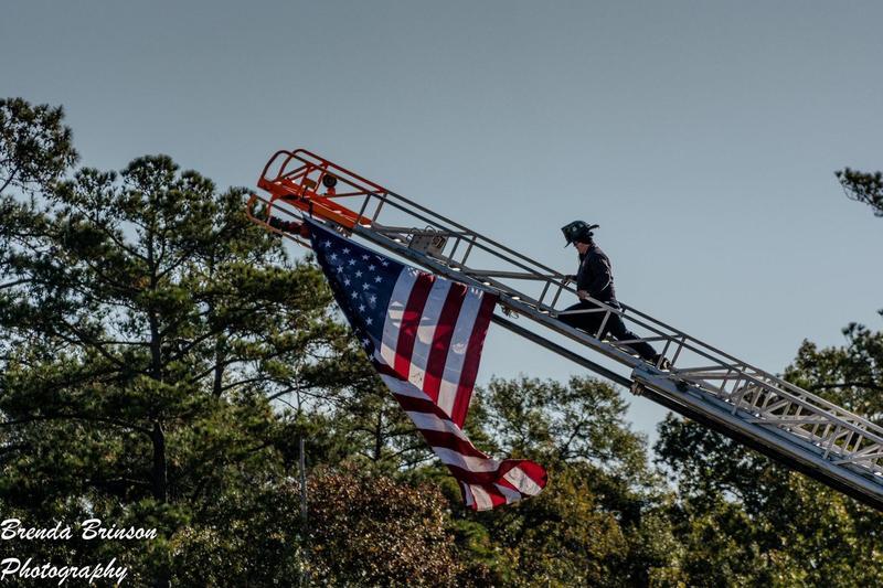 American Flag presented at Brown's Creek.