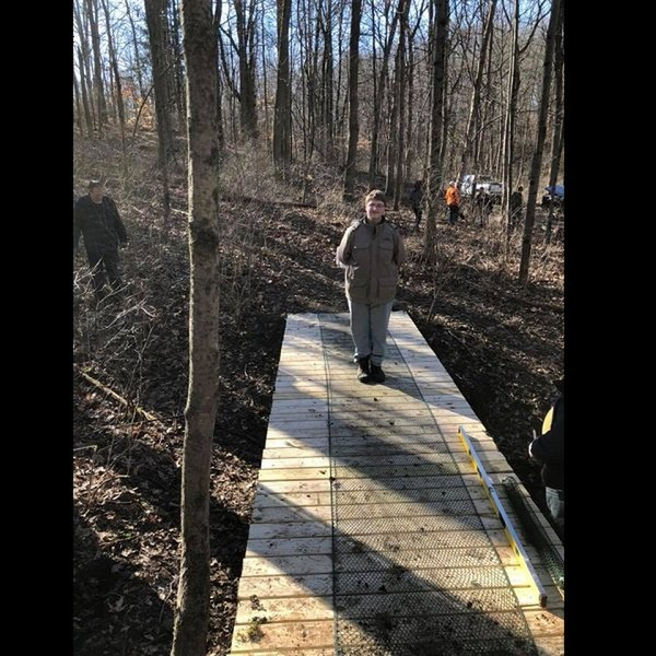 The Boy & Eagle Scouts have done it again. They've built a new bridge on Red Trail.