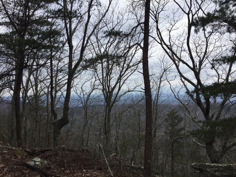 """View from near the top of Hanging Mountain. If you've made it here without """"hiking a bike"""" congratulations!"""