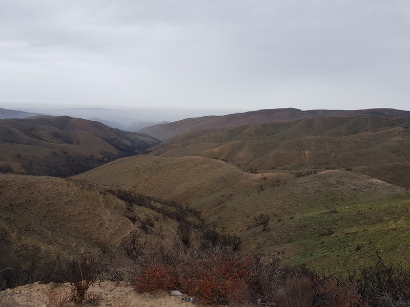 View of North West Canyons from the road peak