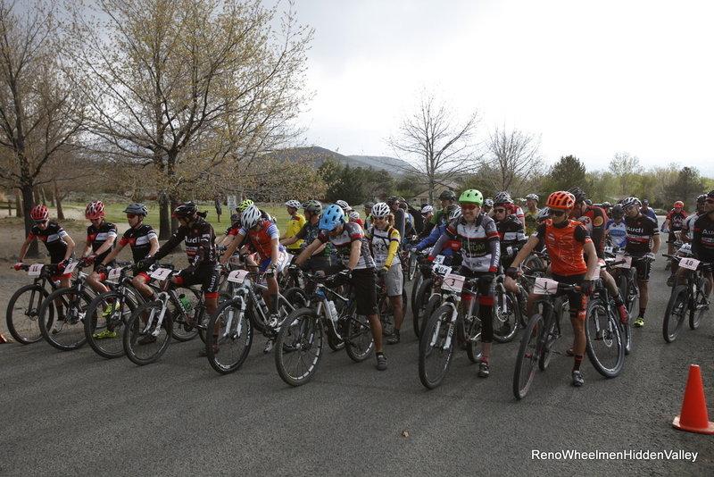 Reno Wheelmen Twilight MTB XC Start-Hidden Valley Bike Trails.