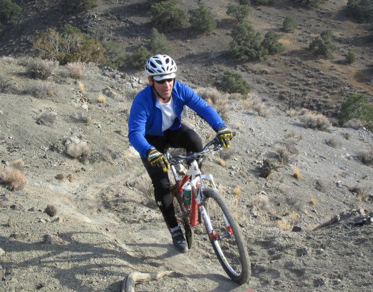Reno MTB XC-Highland Trail-Hidden Valley Bike Trails Glen Y 2004 Above the Tanks.