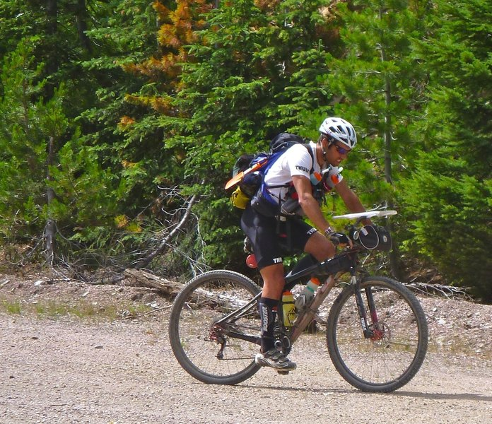 Gravel riding on the NorPac Trail.