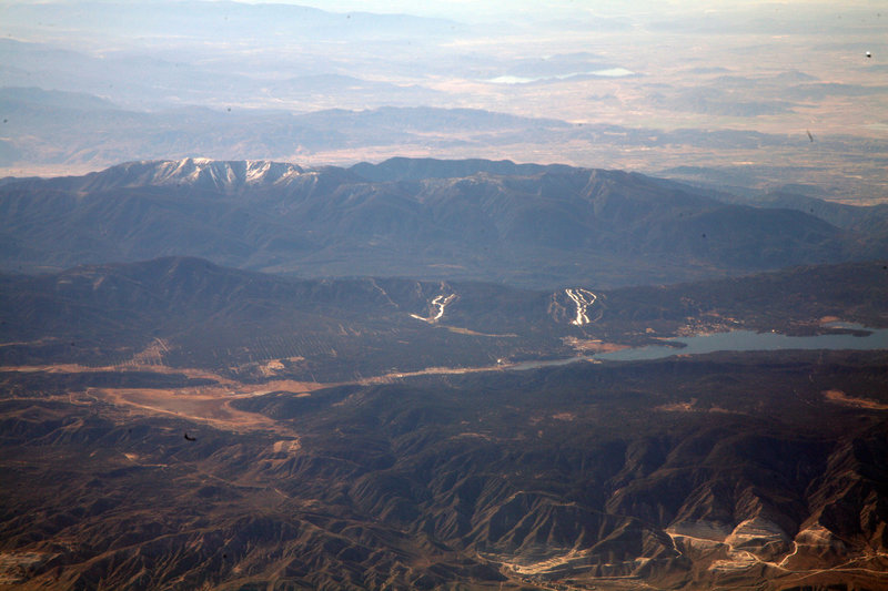 An aerial view of the Big Bear Lake area