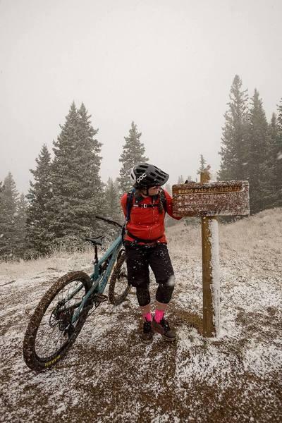 Snowing at Burro Pass... fun!