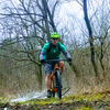 Riding through a muddy section of  Field Trail