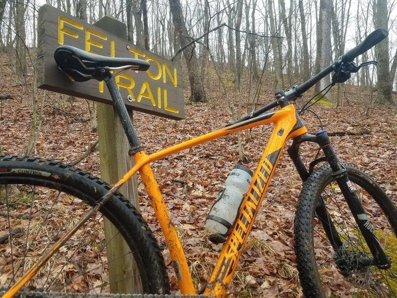 Felton Trail heading south.