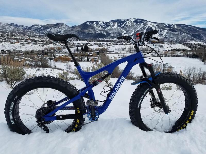 View from Emerald Mountain snowbiking.