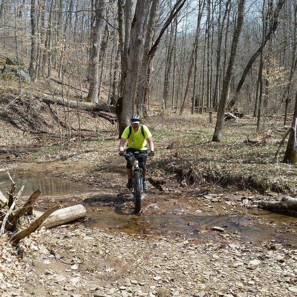 Many water crossings on Jackson Run