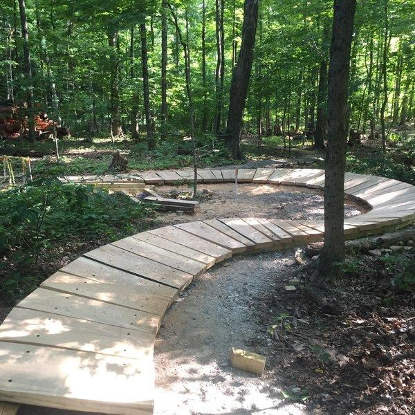 GnomeWood Skills Park boardwalk