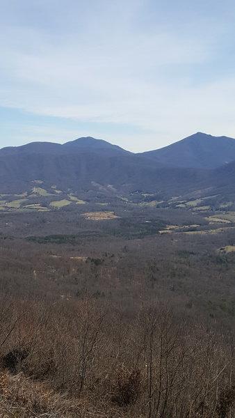 Typical blue ridge mountains scenic vista.