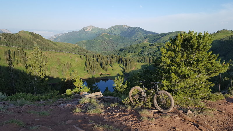Above Desolation Lake on the Spine of the Wasatch Crest Trail