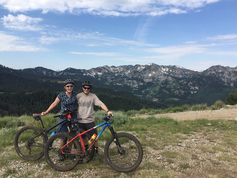 Taking a break after a long climb up Pinecone before descending the Wasatch Crest