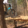 Chip rolling through the trees and onto the mirror berms!