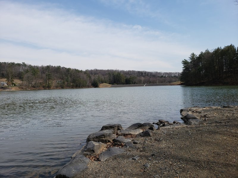Lake view from fishing area