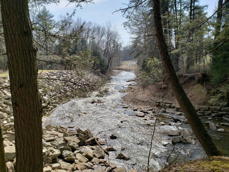 Downstream view from disk golf crossing
