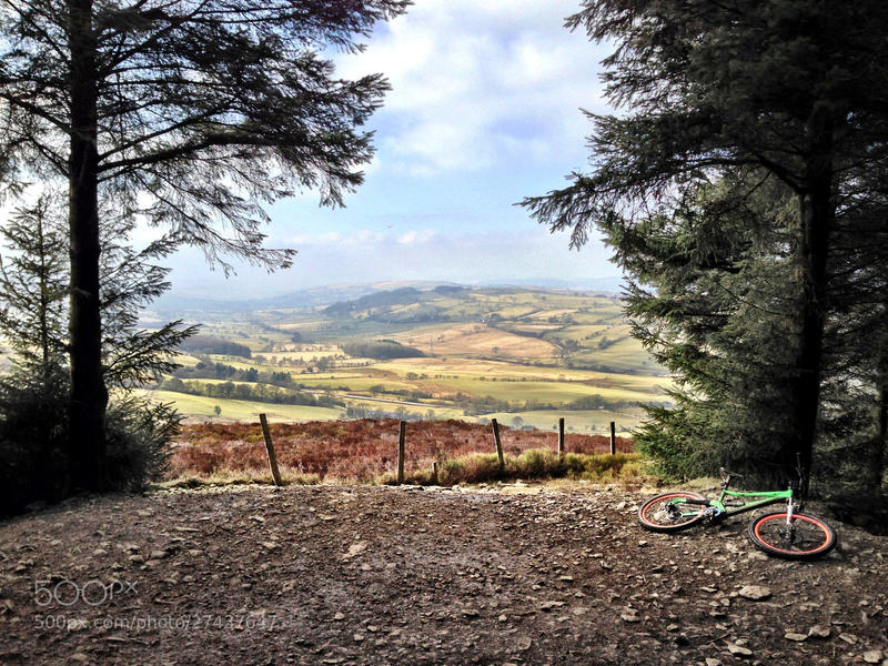 View from Llandegla: The infamous view looking out from the mountain bike trails at Llandegla Forest.