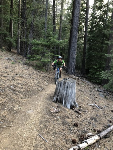 Up hill skylinder trail
