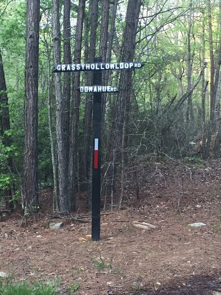 One of the few directional signs in the WMA.