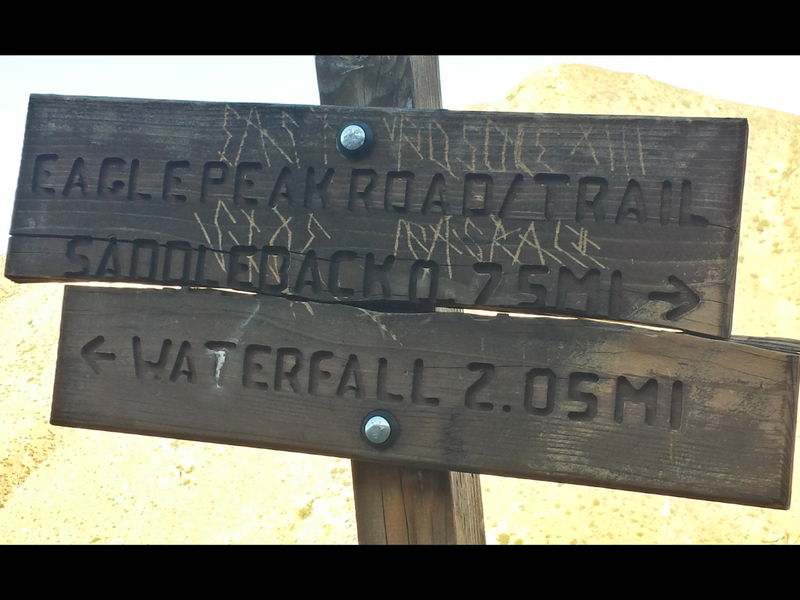 Old trail marker from once well hiked trail
