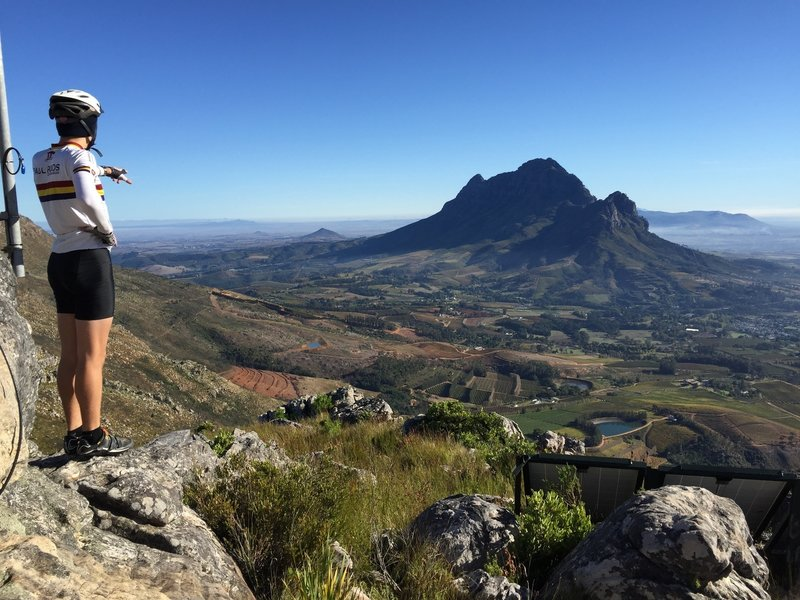 Arnand at the lookout over Simonsberg
