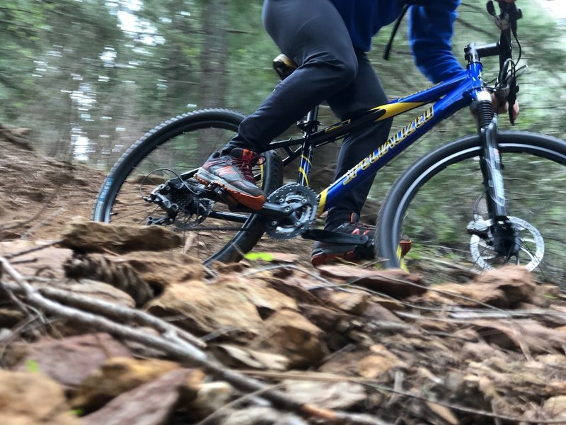 A buddy of mine riding his specialized hard tail. Photo, thanks to RIC.