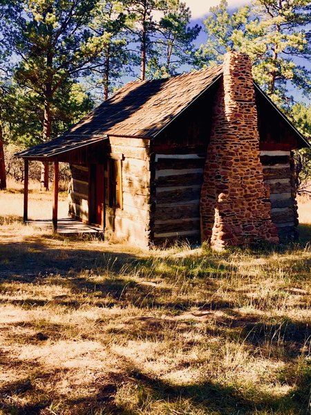 This is Pioneer Cabin. Falcon Trail goes right by it and it is worth a quick stop.